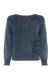 Washed Indigo Knits