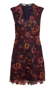 Karen Millen Colourful Floral Embroidered Dress