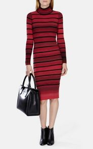 Stretch Knit Stripe Dress