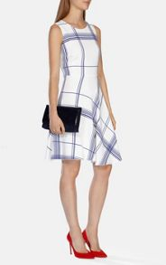 Draped Check Soft Dress