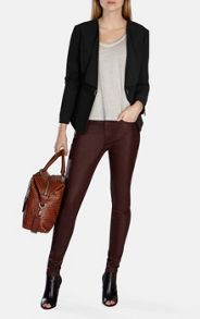 Karen Millen Stretch Denim Coated Skinny Jean