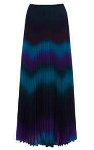 Blurred Stripe Maxi Skirt