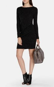 Karen Millen Modern Draped Texture Dress
