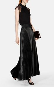Karen Millen Pleat Maxi Skirt
