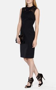 Karen Millen Lace Shoulder Pencil Dress