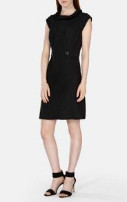 Karen Millen Black Tweed Tailored Dress