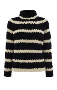 Karen Millen Boucle Stripe Sweater
