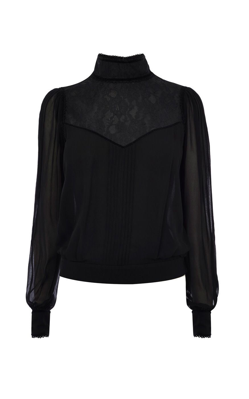 Karen Millen Victorian Blouse Black £93.75 AT vintagedancer.com