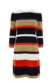Bold Stripe Knit Dress