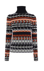 Graphic Geo Pattern Knit