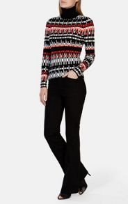 Karen Millen Graphic Geo Pattern Knit