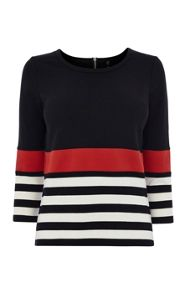 Clean Stripe Jersey Top