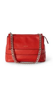 Leather and chain bag