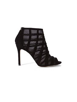 Mesh And Suede Shoe Boot