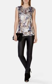Sequin Embellished Jersey Top