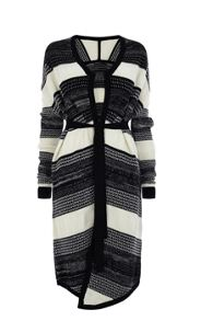 Tweedy Chunky Graphic Cardigan