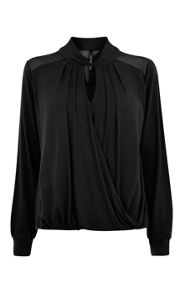 Karen Millen Smart Draped Jersey Top