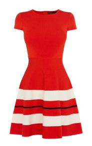 Karen Millen Placed Stripe Knit Dress