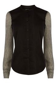 Dot Print Sleeve Shirt