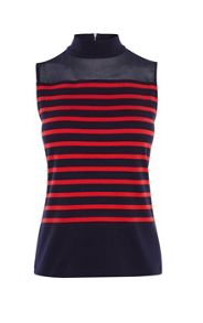 Karen Millen Stripe & colour block top
