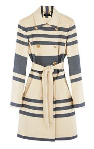 Karen Millen Striped Trench Coat