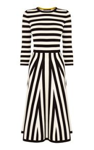 Karen Millen Mixed Stripe Dress
