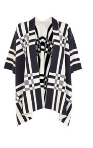 Karen Millen Checked Merino-Wool Cape