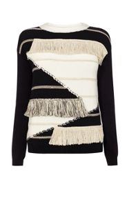 Karen Millen Fringed Knit Jumper