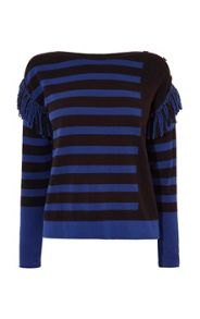 Karen Millen Fun Mixed Stripe Jumper