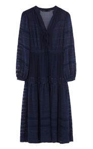 Karen Millen Mixed Devore Dress