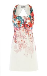 Karen Millen Botanical Flower On Scuba Dress