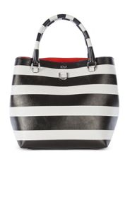 Karen Millen Striped Mini Bucket Bag