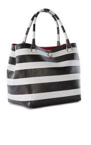 Karen Millen Striped Bucket Bag