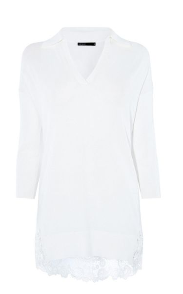 Karen Millen Embroidered Hem Knit