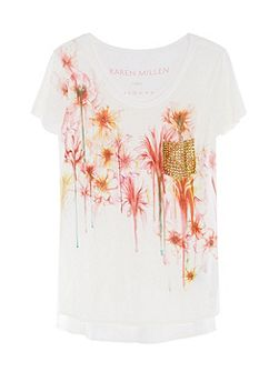Floral Studded T-Shirt