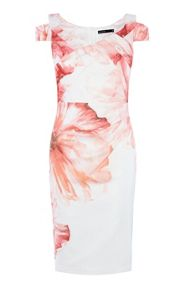 Karen Millen Watercolour-Floral Pencil Dress