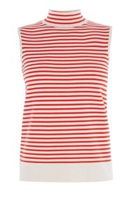 Karen Millen Striped Turtle Neck Top