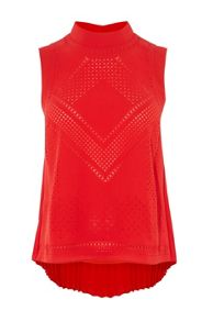 Karen Millen Graphic Laser Cut Top