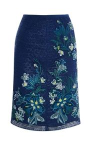 Karen Millen Tropical Embroidery Lace Skirt