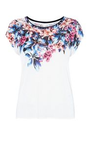 Karen Millen Placed Lily Print Top