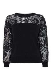 Karen Millen Statement Lace & Knit