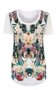 Karen Millen Jungle-Print T-Shirt