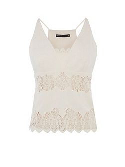 Lace Crepe Top