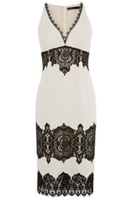 Karen Millen Lace Crepe Dress