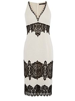 Lace Crepe Dress