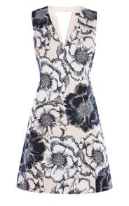 Karen Millen Floral-Print Cotton Dress