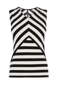 Karen Millen Striped Cutout Top
