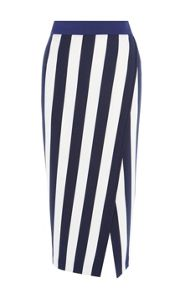 Karen Millen Striped Jersey Skirt