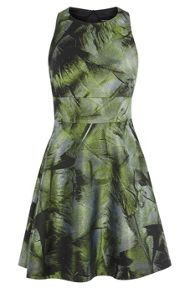 Karen Millen Palm-Leaf Jacquard Dress