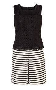 Karen Millen Stripe and Broderie Dress
